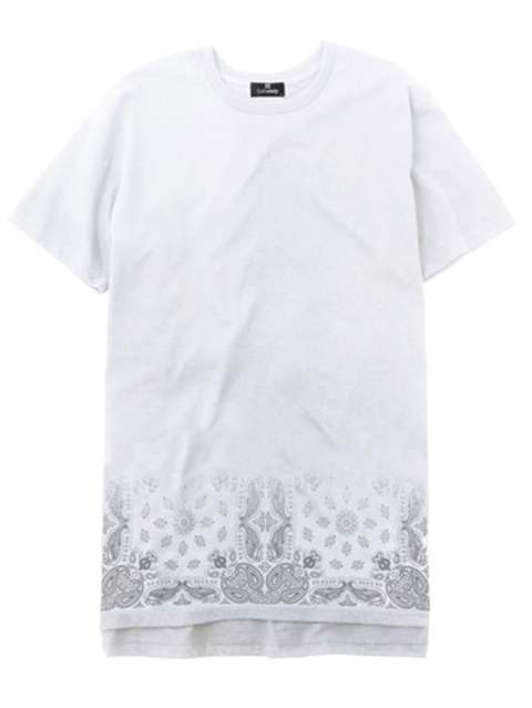 PAISLEY LONG LENGTH TEE S/S