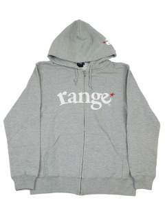 range logo sweat zip hoody