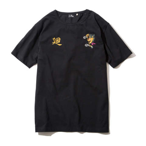EMBROIDERY TEE S/S-廻-