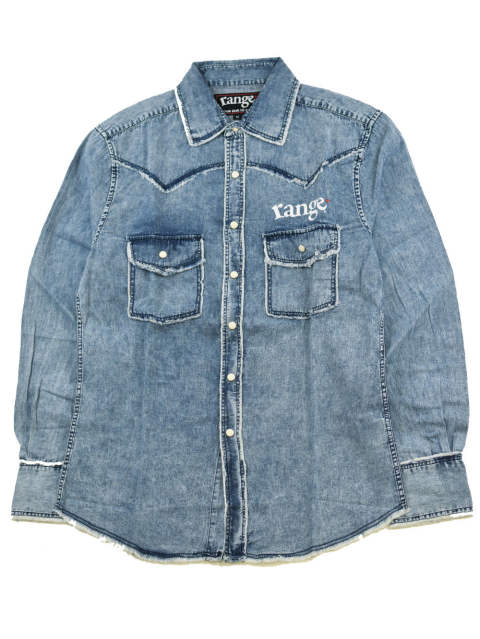 rg denim western damage shirts