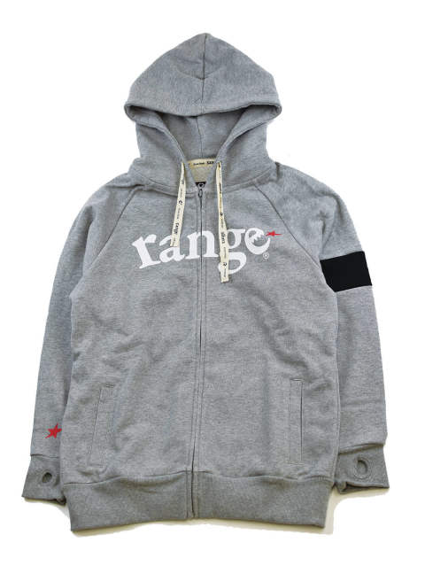 range color combination zip hoody