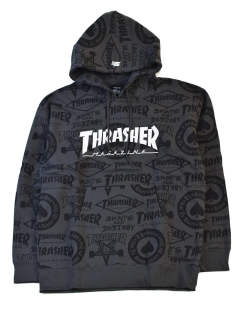 THRASHER×STARTER BLACK LABEL ALLOVER HOODIE
