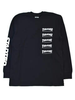 THRASHER×STARTER BLACK LABEL L/S T