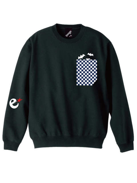 rg checker pocket crew sweat