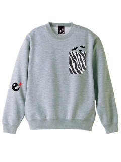 rg zebra pocket crew sweat