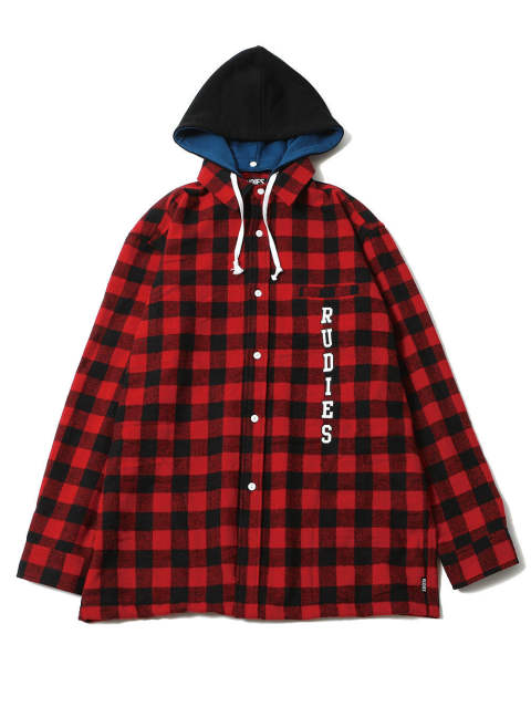 MIGHTY CHECK HOOD-SHIRTS