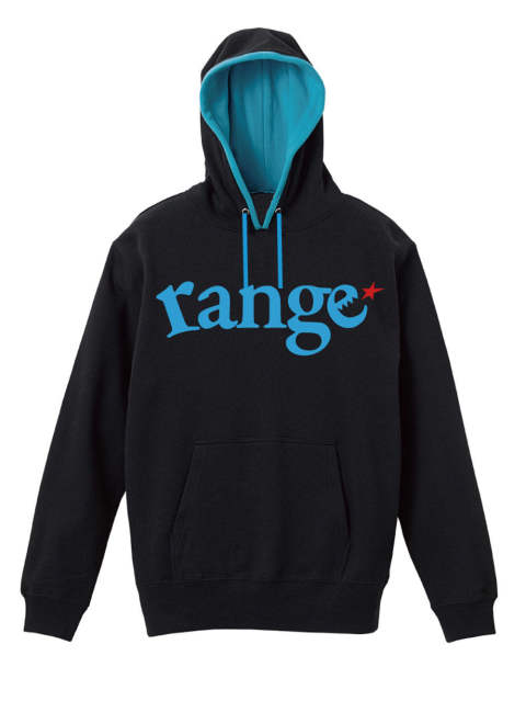 range logo pull over hoody spot color