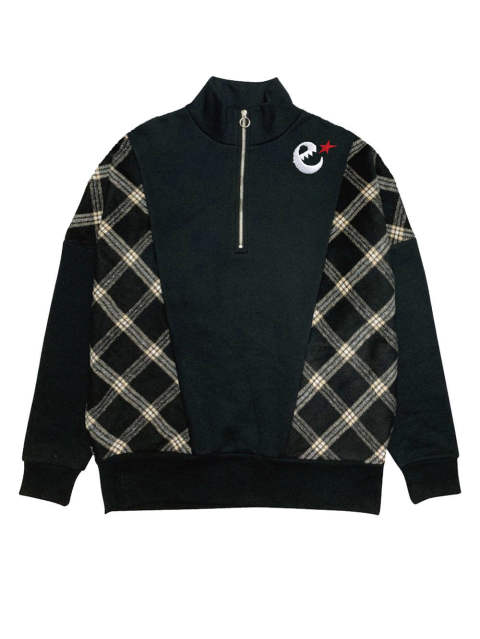 rg over size checker zip crew