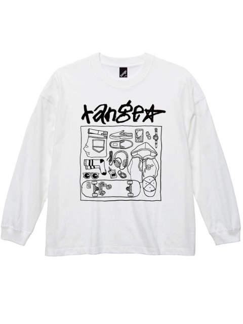 Hand writing stuff Big size L/S tee