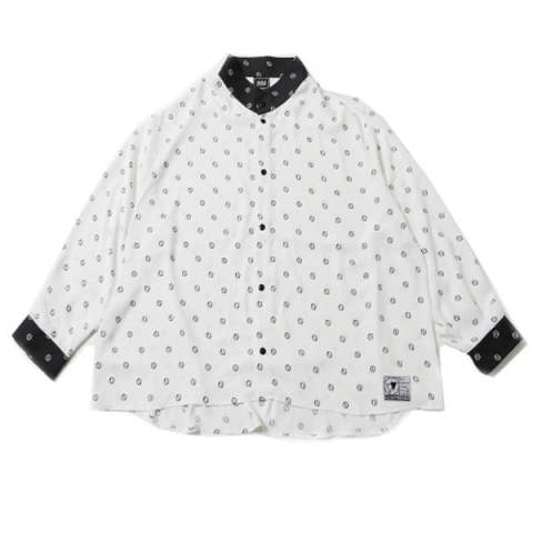 SPELL -Patterned Stand Up Collar Shirts-